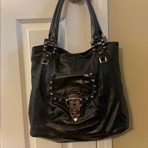 Betsy Johnson black satchel mint condition large